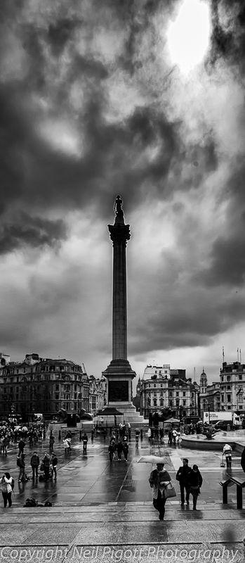 Trafalgar square nelsons column