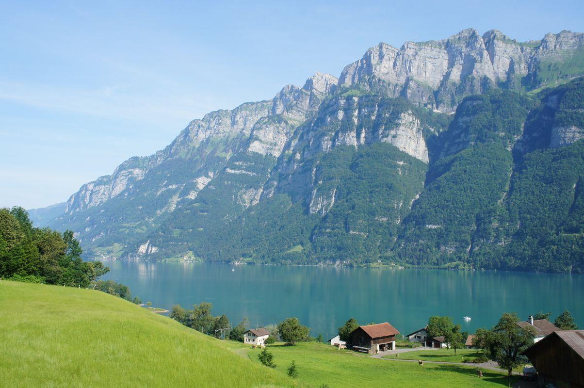 Der Walensee in Graubünden, Schweiz