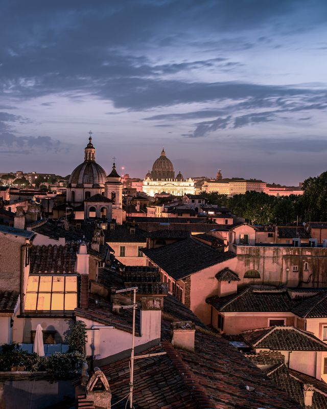 Rome in early evning.