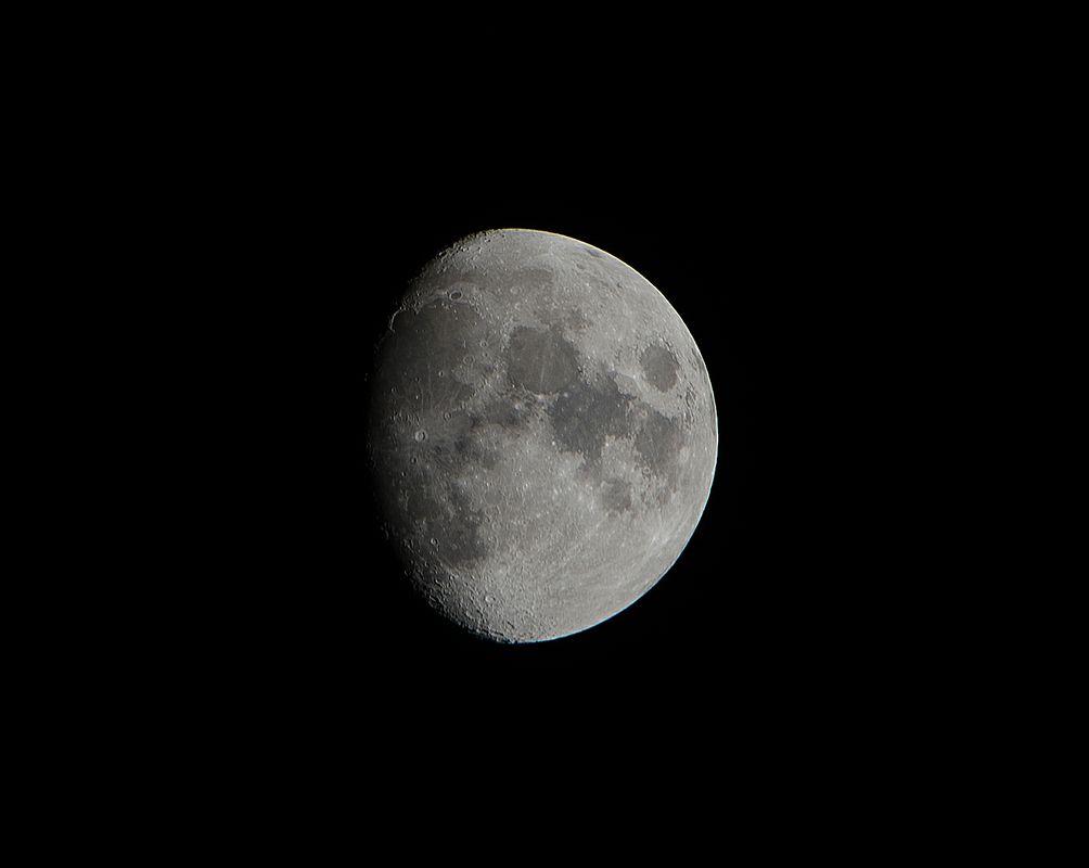 Nearly full moon Close
