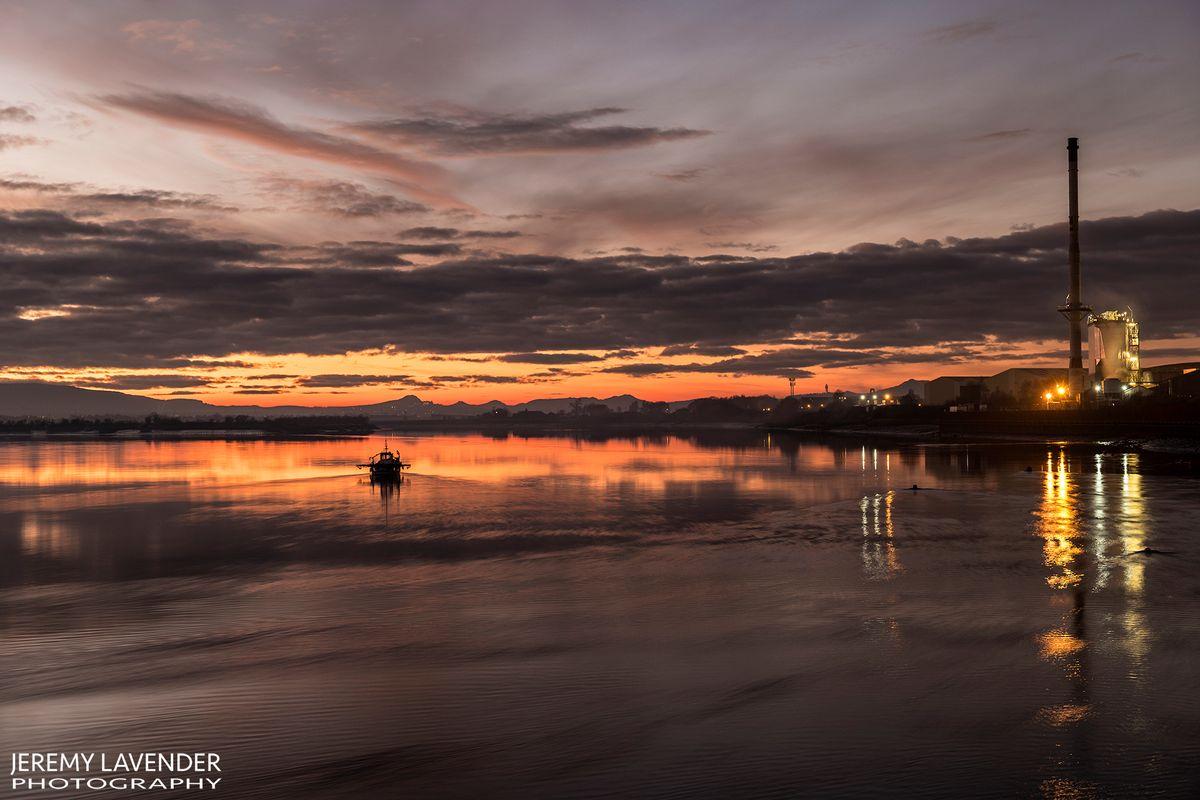 Sunset from Alloa Docks