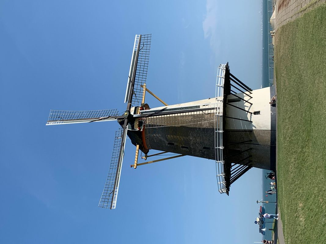 Windmill on the North Sea in Vlissingen - Netherlands