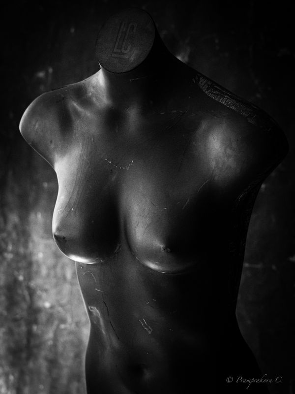 Old mannequins in the morning light