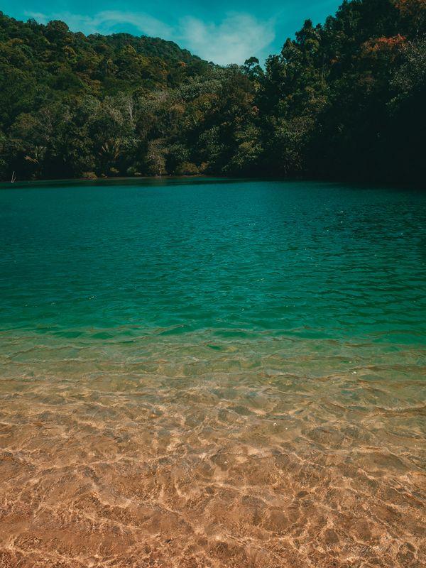 Clear sea water, beautiful sand.