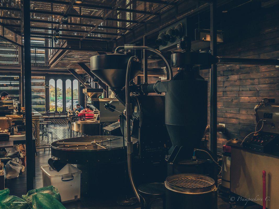 Coffee cafe machine back view
