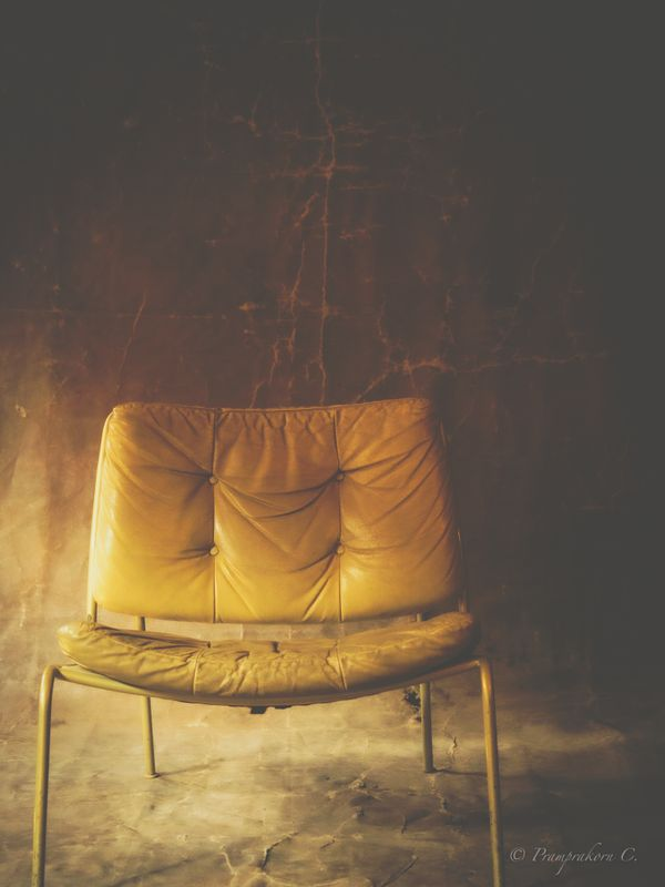 Old chair with morning light