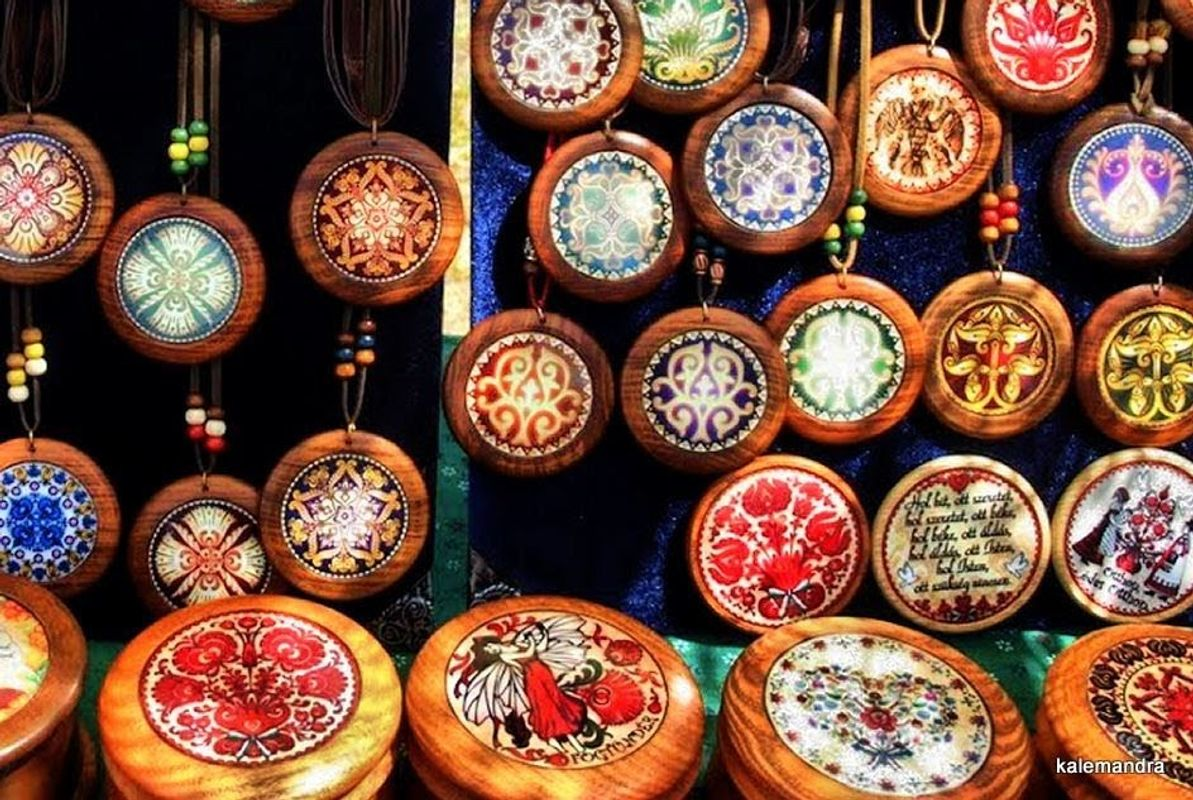 Pendants with ancient Hungarian ornaments