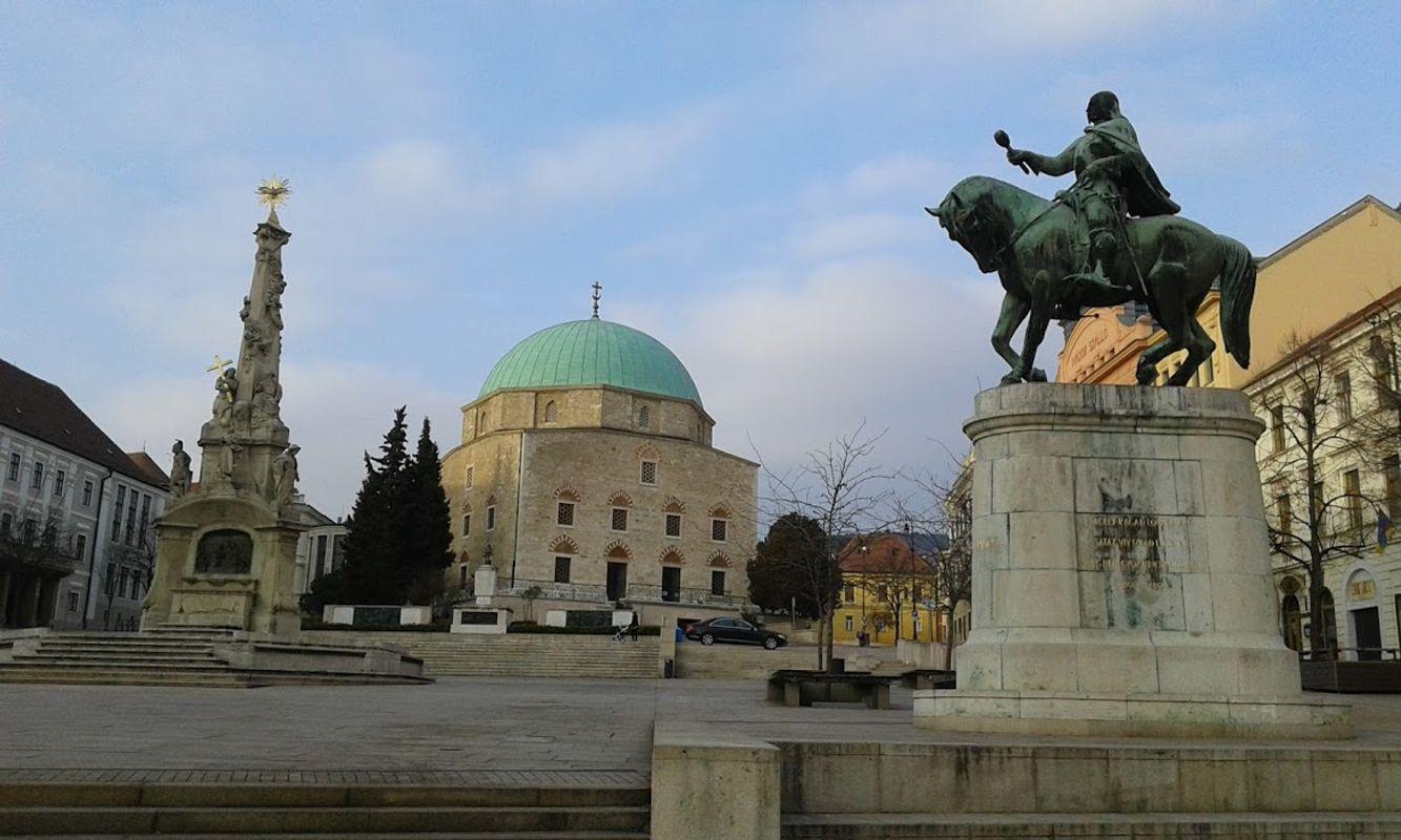 Downtown of Pécs, Hungary