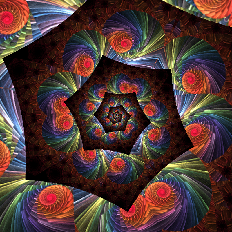 Photospiralysis: hexagonal