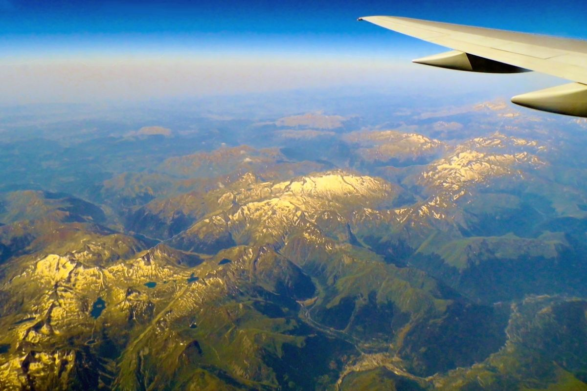 Looking down on the Pyrenees.