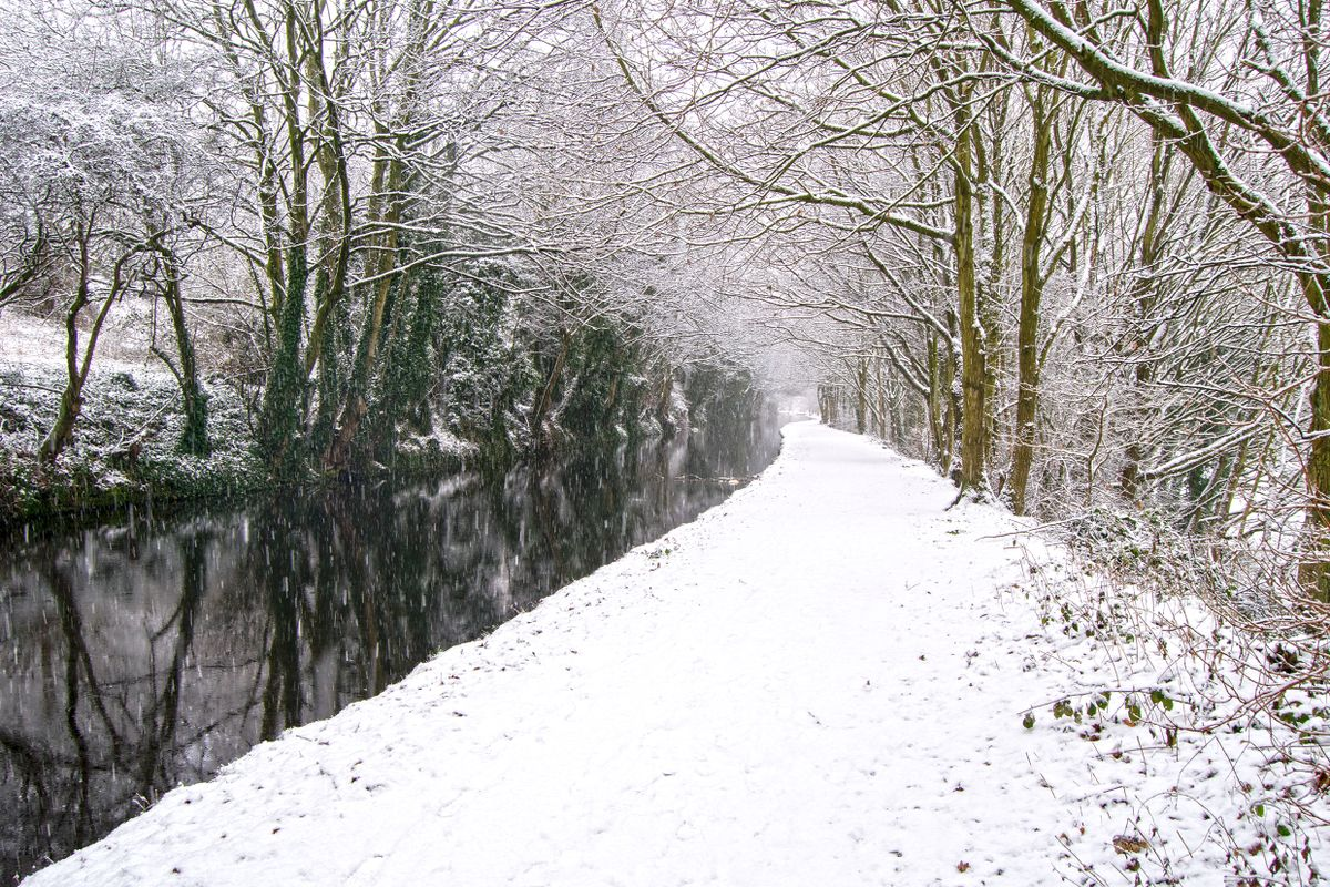 Snowy Canalside.