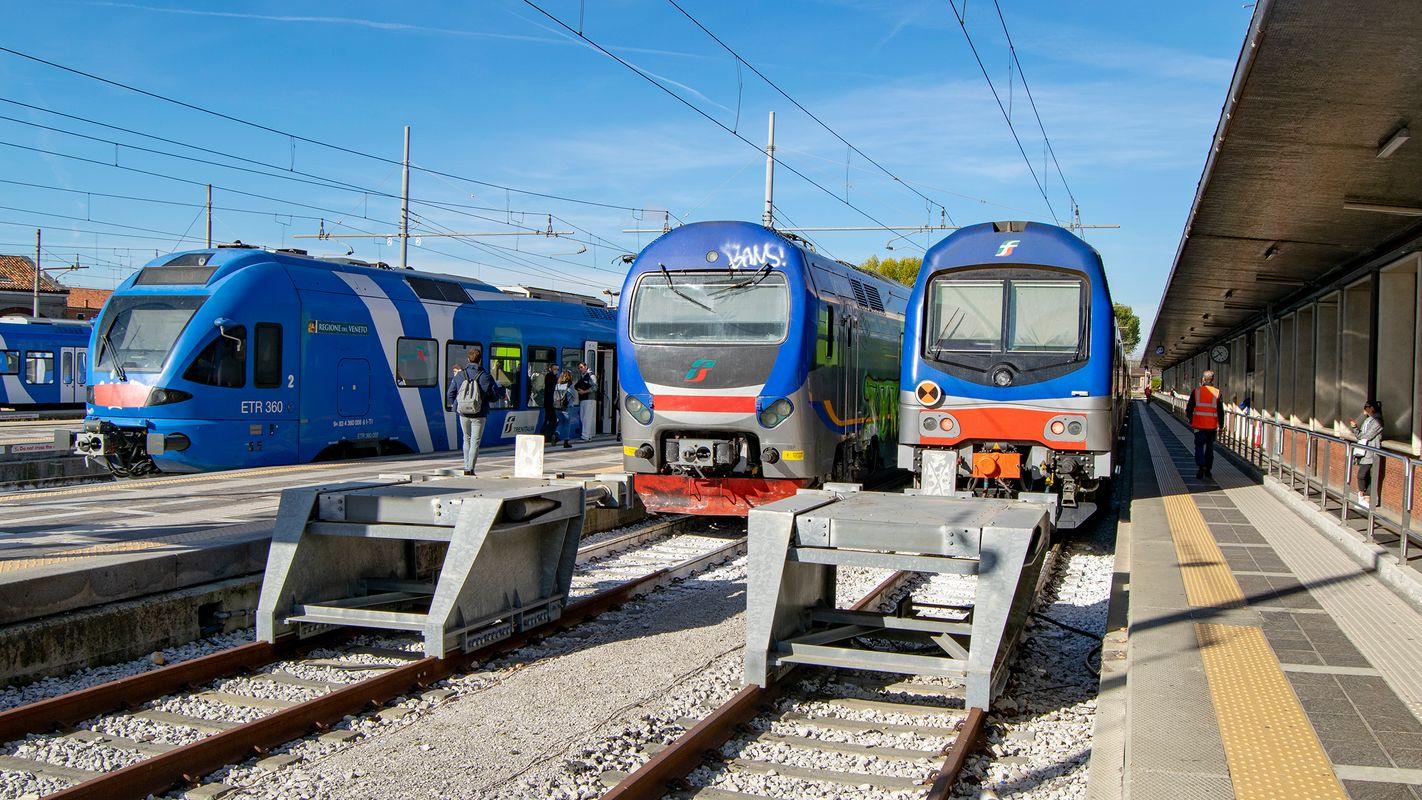 Trains at Venezia Santa Lucia Station