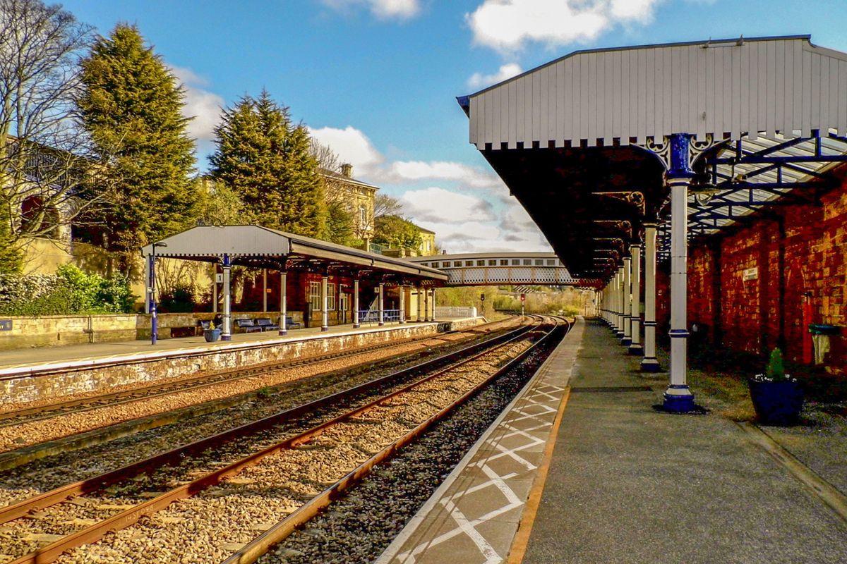 Dewsbury Railway Station.