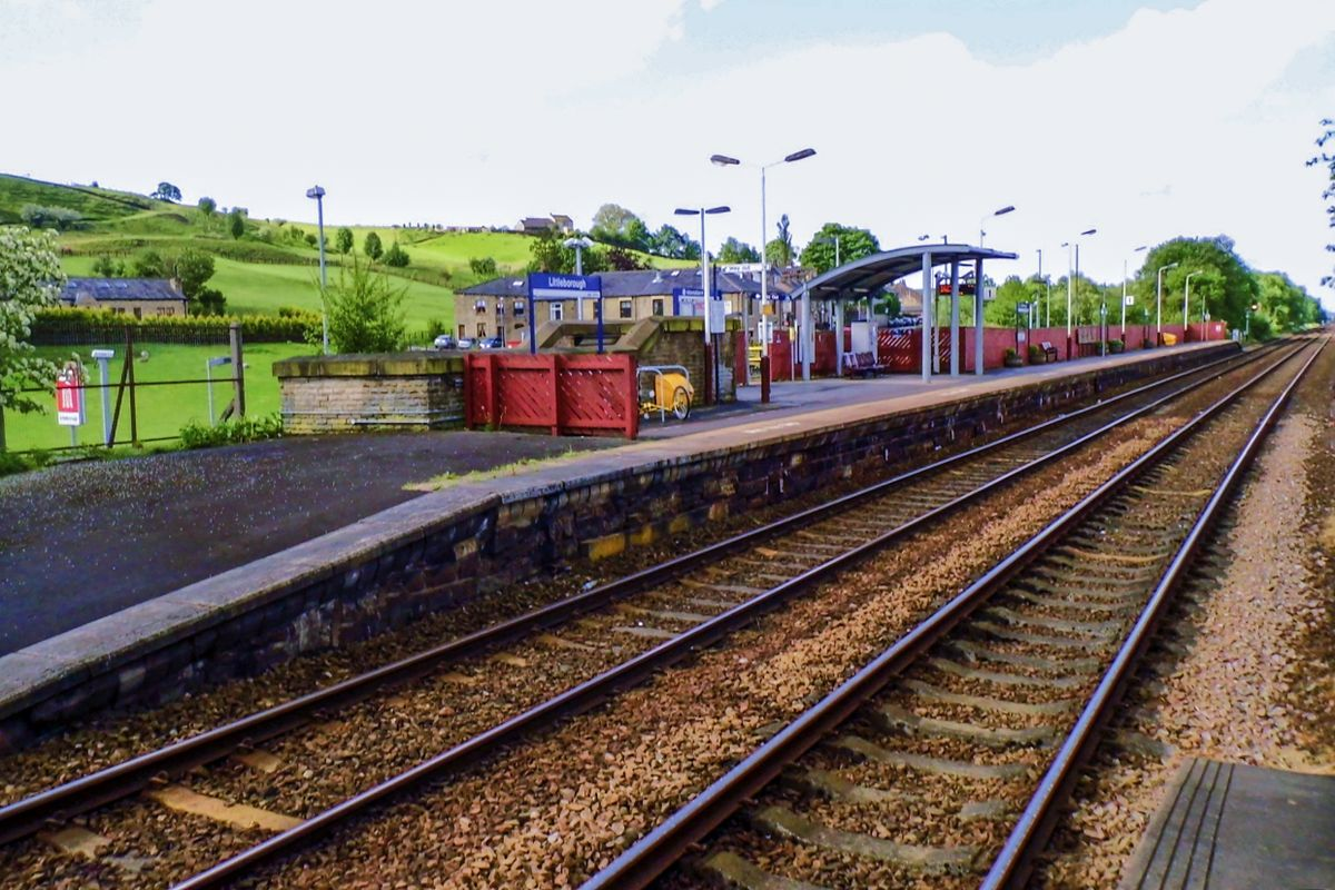 Platform One, Littleborough Railway Station.