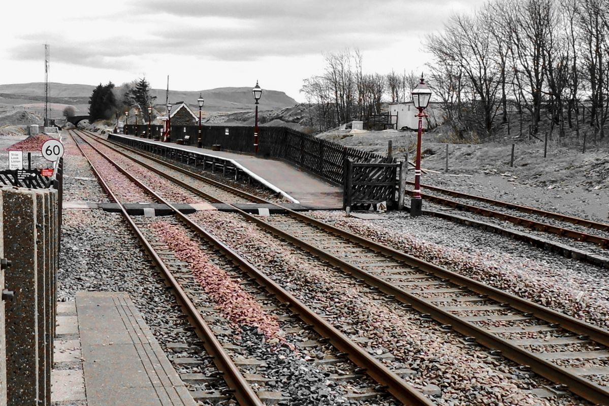 Platform 2 at Ribblehead Railway Station.