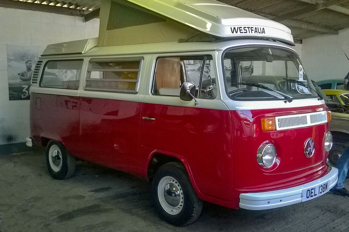 VW Type 2 Westfalia Continental Campervan.