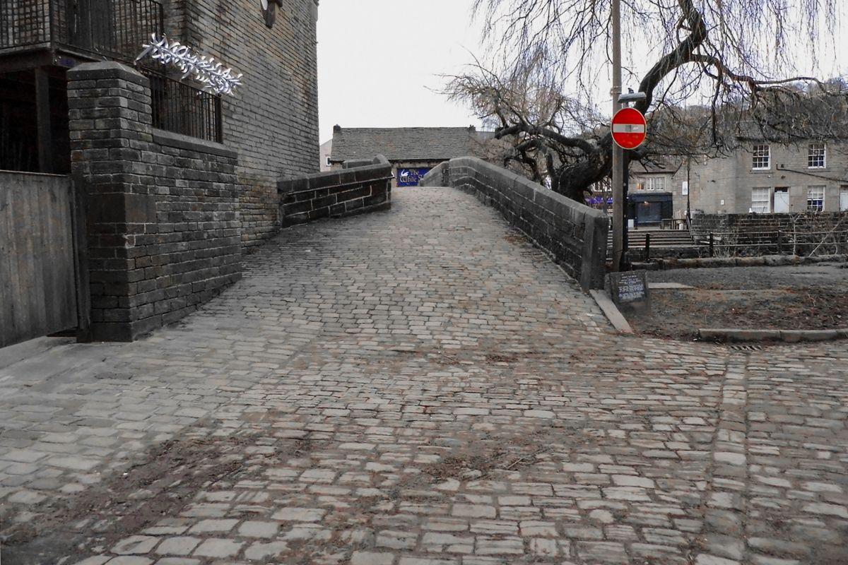 Cobbles at Hebden Bridge