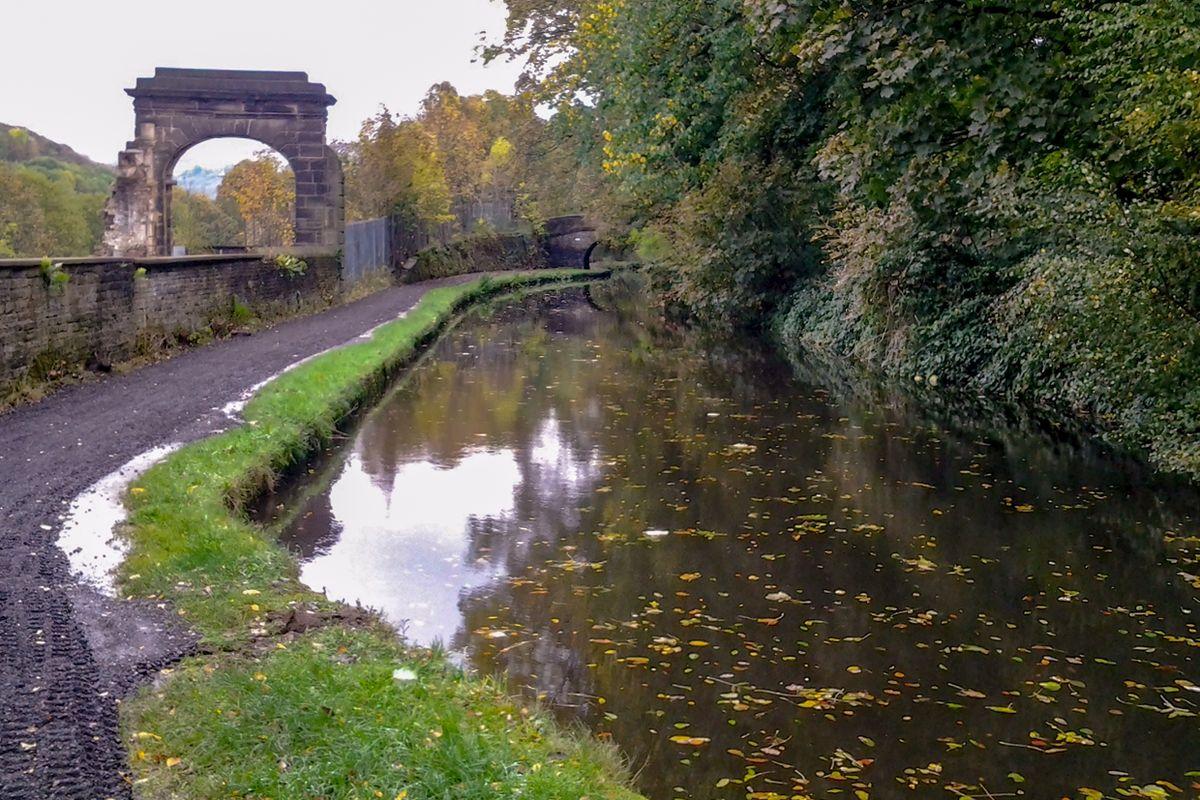 Mill Yard Arch alongside the Rochdale Canal.