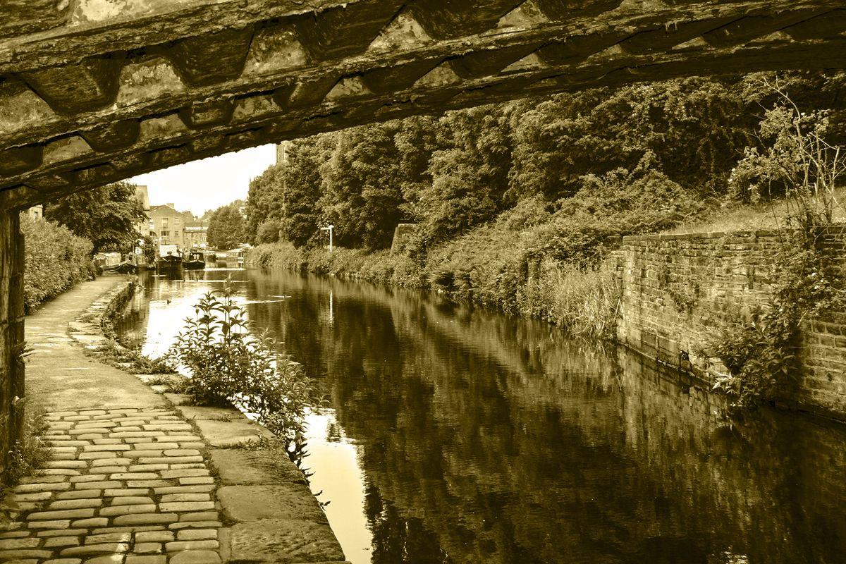 The Calder & Hebble Underneath Chain Bridge,