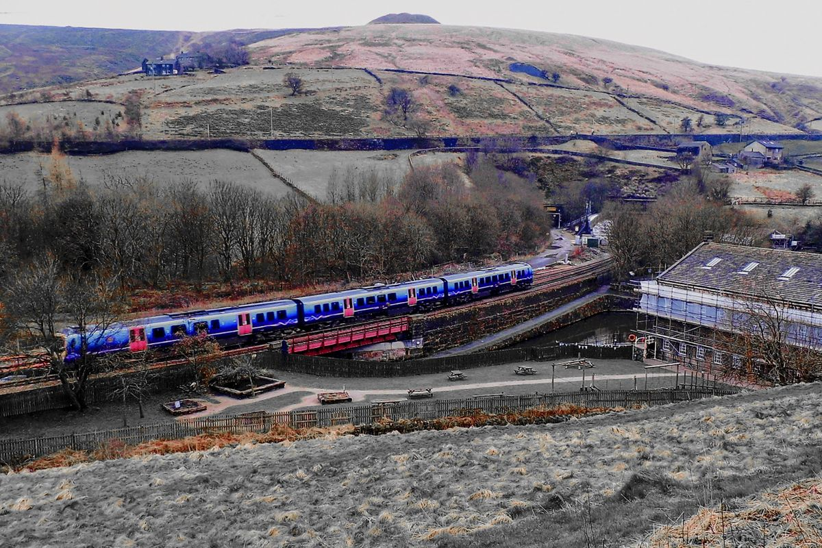 Train away from the Standedge Tunnels.