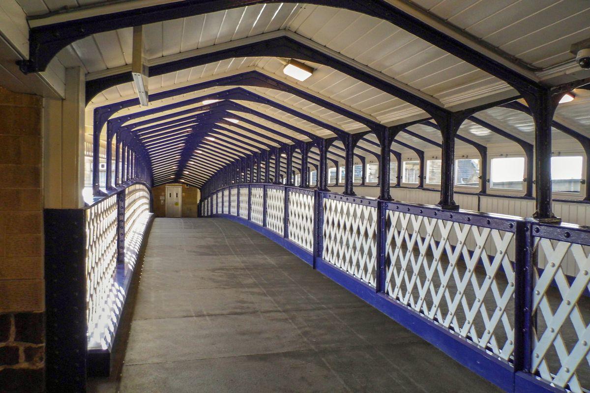 Inside the Bridge at Dewsbury Station.