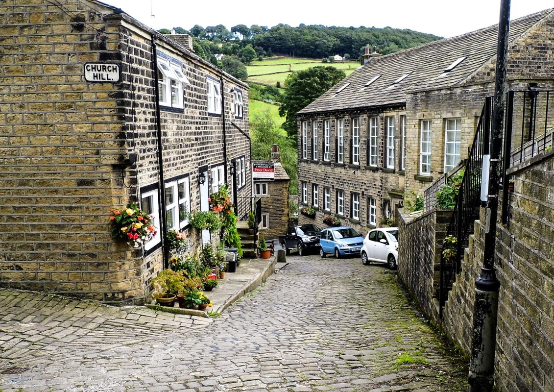 Church Hill Cobbled Road, Luddenden