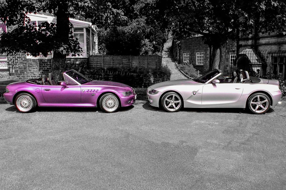 Z3 and Z4 BMW Roadster.