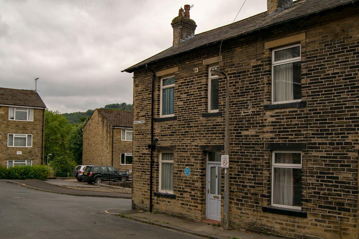 Birthplace of Poet Ted Hughes.. 1 Aspinall Street, Mytholmroyd.