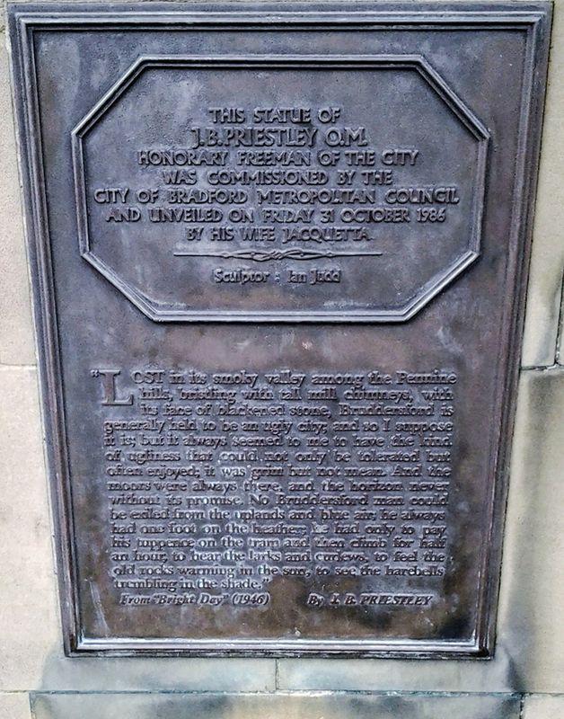 Plaque on a Plinth.
