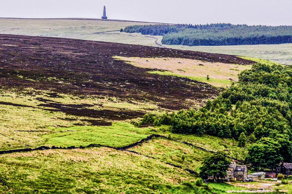 Stoodley Pike from the Operation Starfish Site.