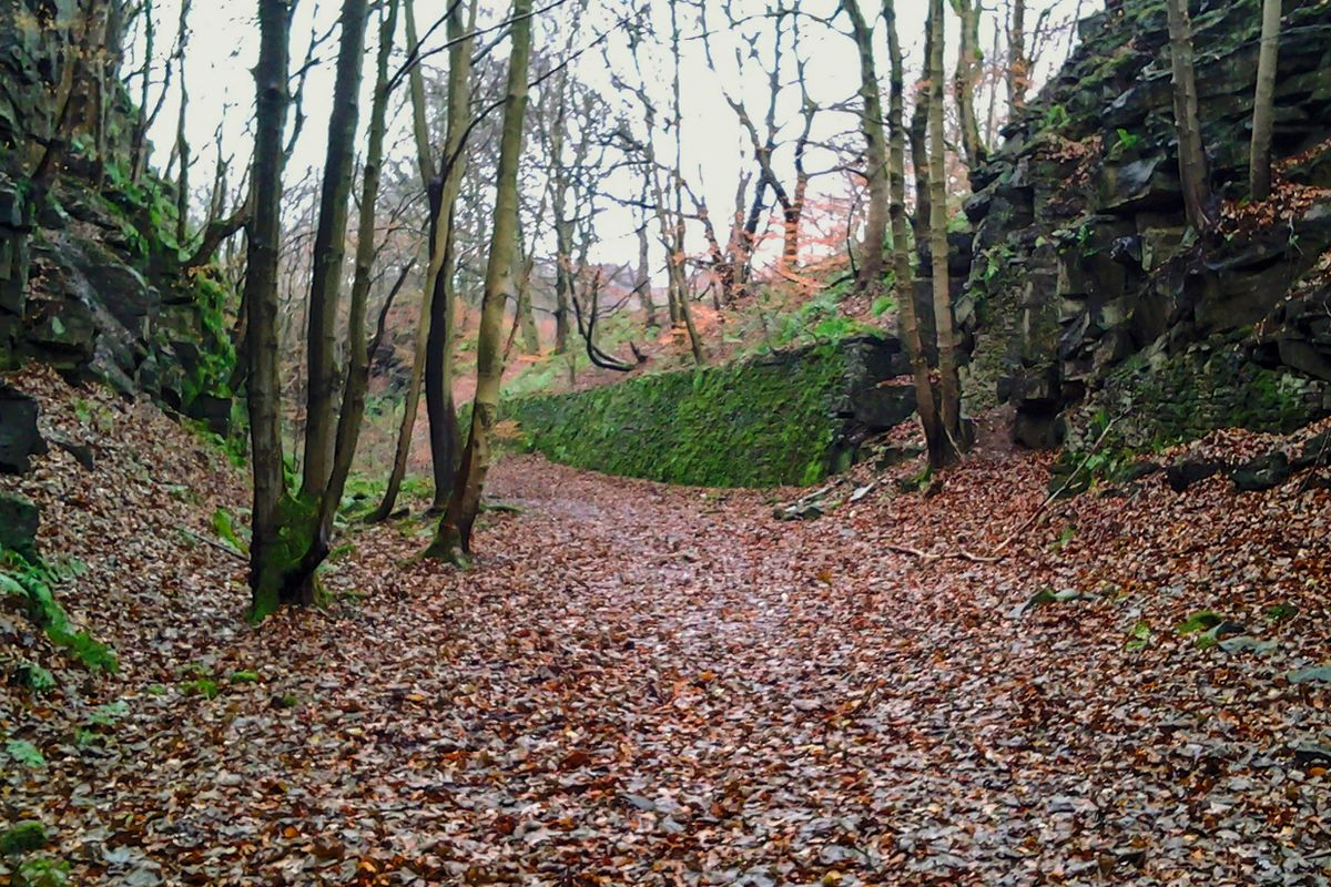 Former Railway Cutting at Triangle, West Yorkshire.