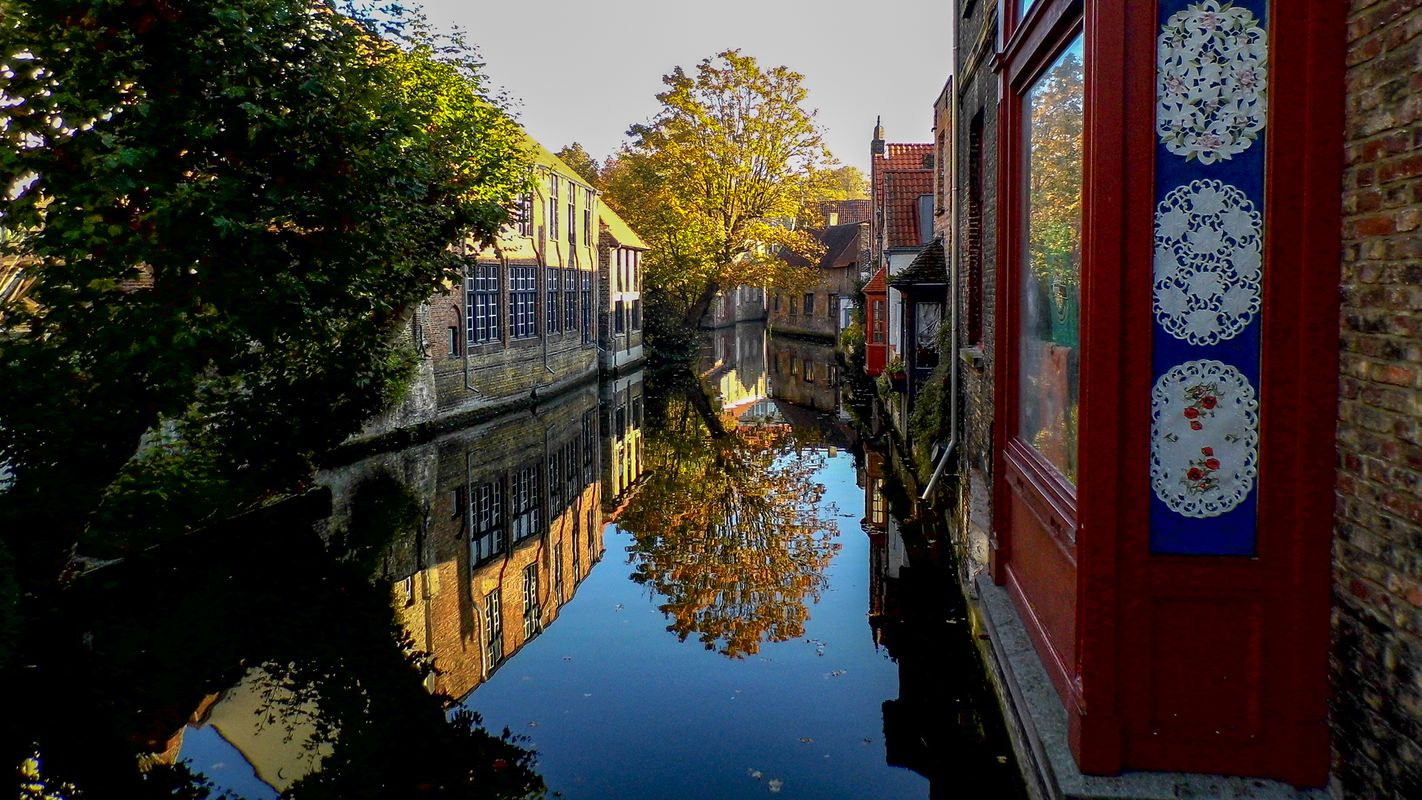 Canalside Reflections in Bruges