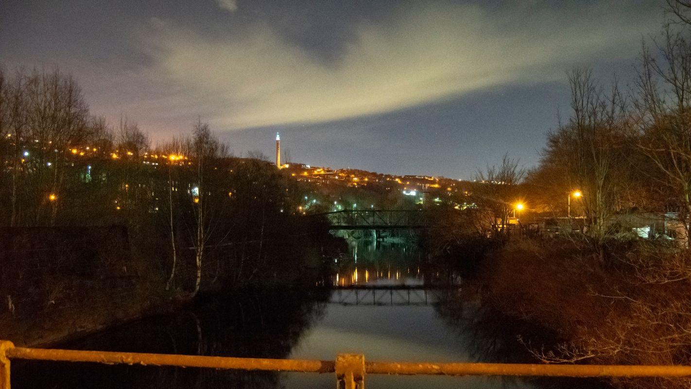 River Calder at Night.