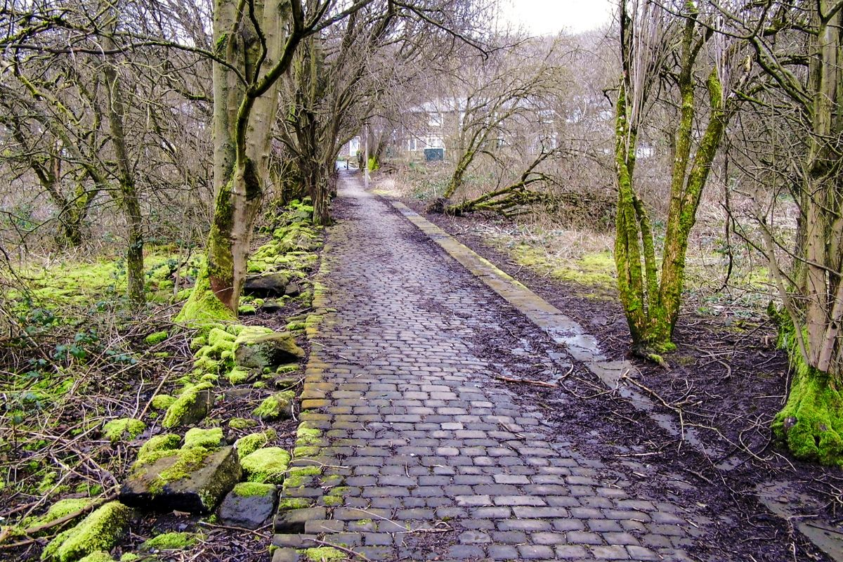 Cobbled Footpath.