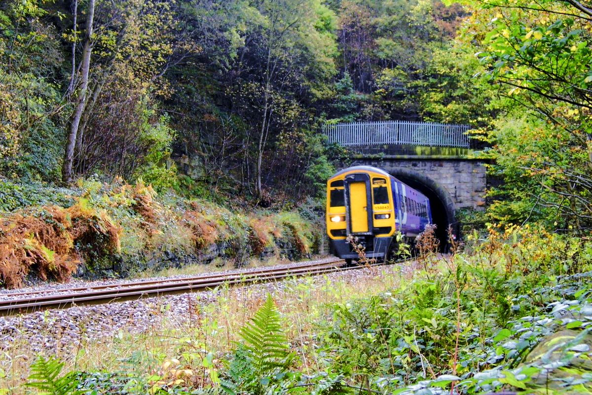Train Exiting the Bank House Tunnel, Nr Copley Halifax.