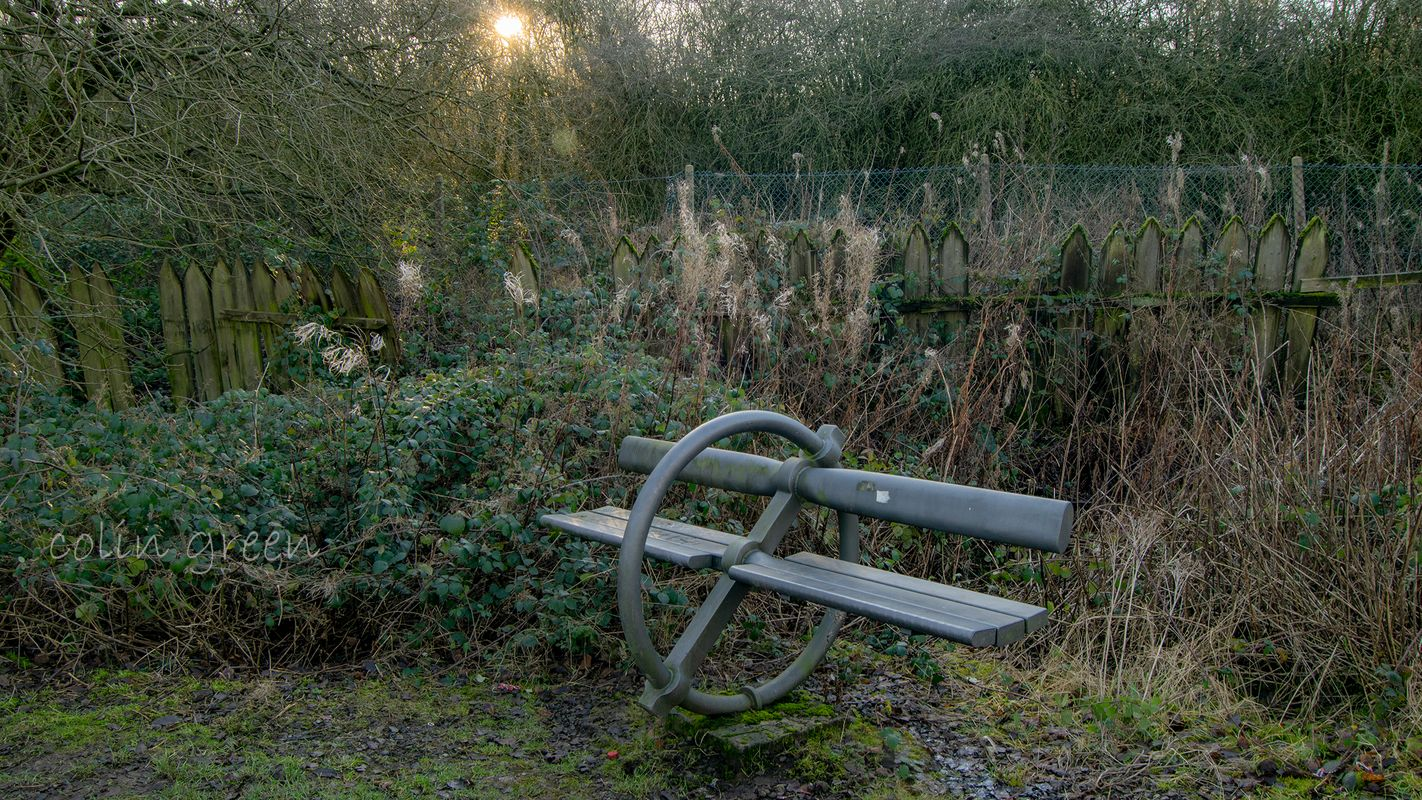 Bench on the Spen Valley Line