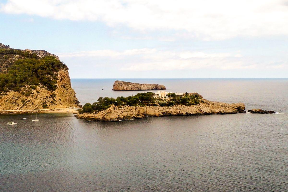 Island at the entrance of Port de San Miguel, Ibiza