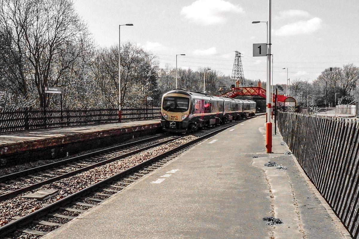 Train at Ravensthorpe Station.