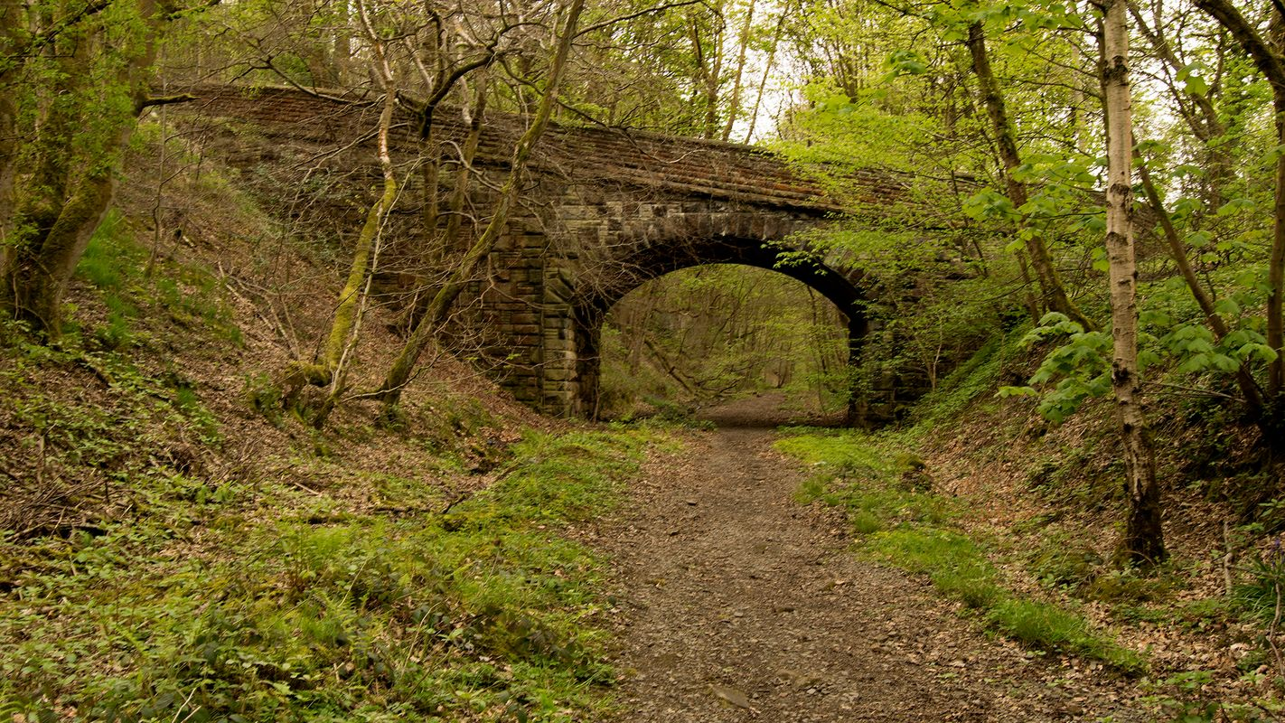 Former Railway Bridge on the Rishworth Branch Line.