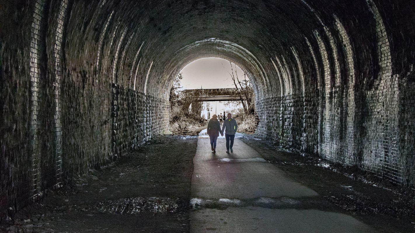 Inside Liversedge Tunnel, Spen Valley Greenway