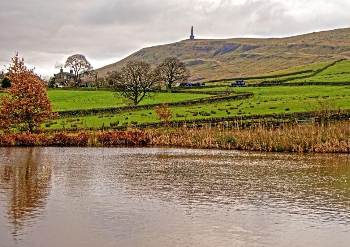 Stoodley Pike and Heeley Dam.