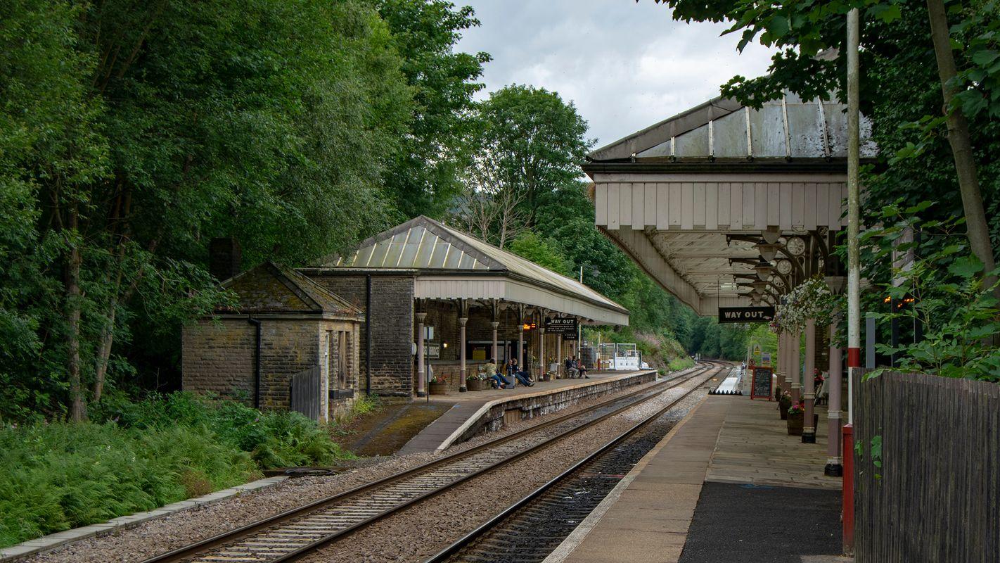 Hebden Bridge Railway Station Platforms.