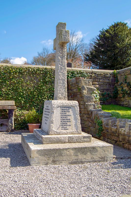 Memorial to the Fallen of Cliviger and Holme Chapel.