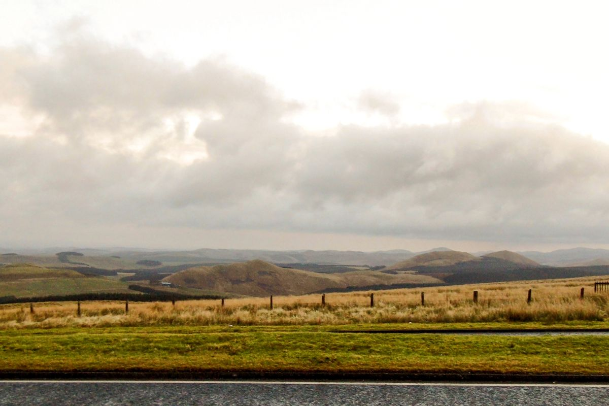 The Borders region of Scotland.