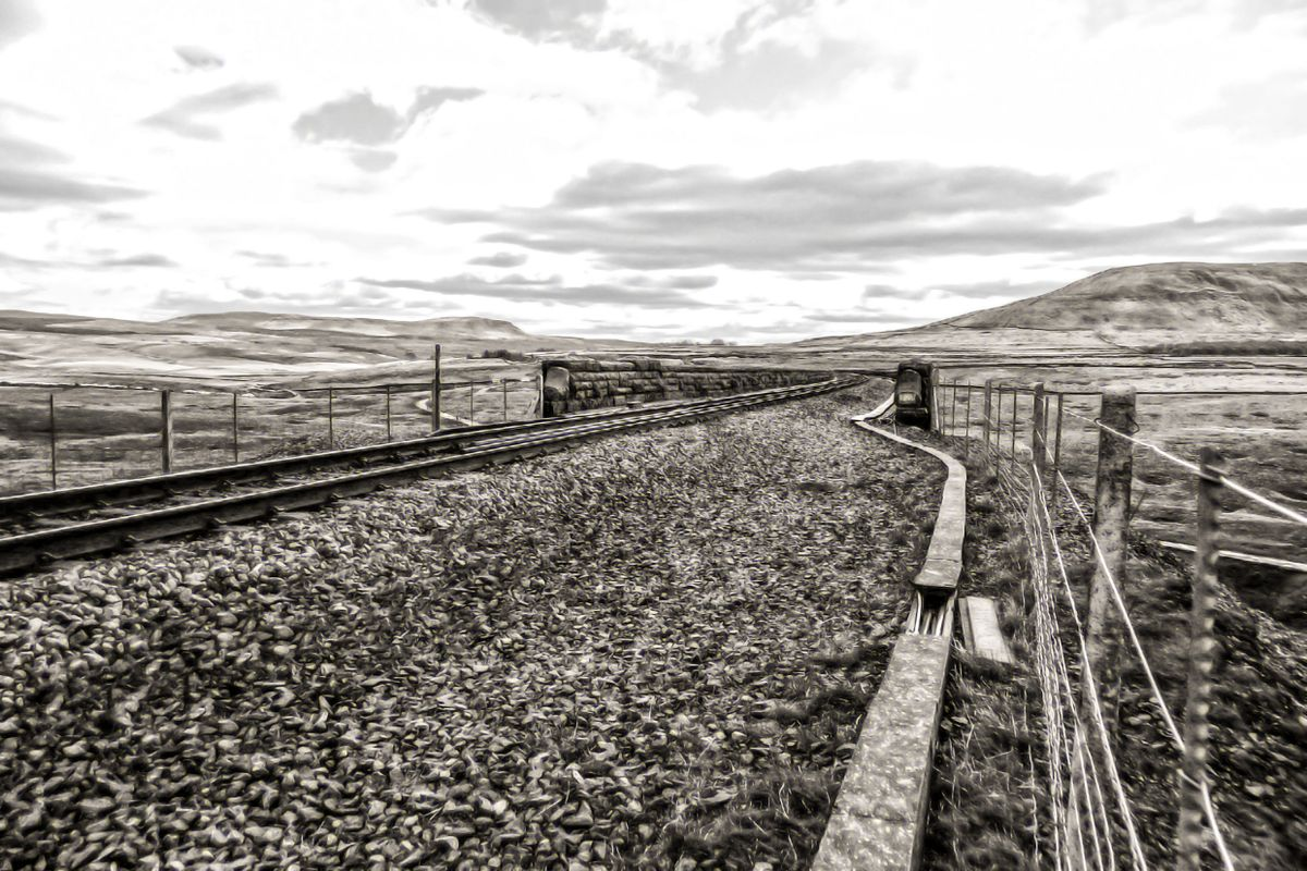 Black and White of Ribblehead.