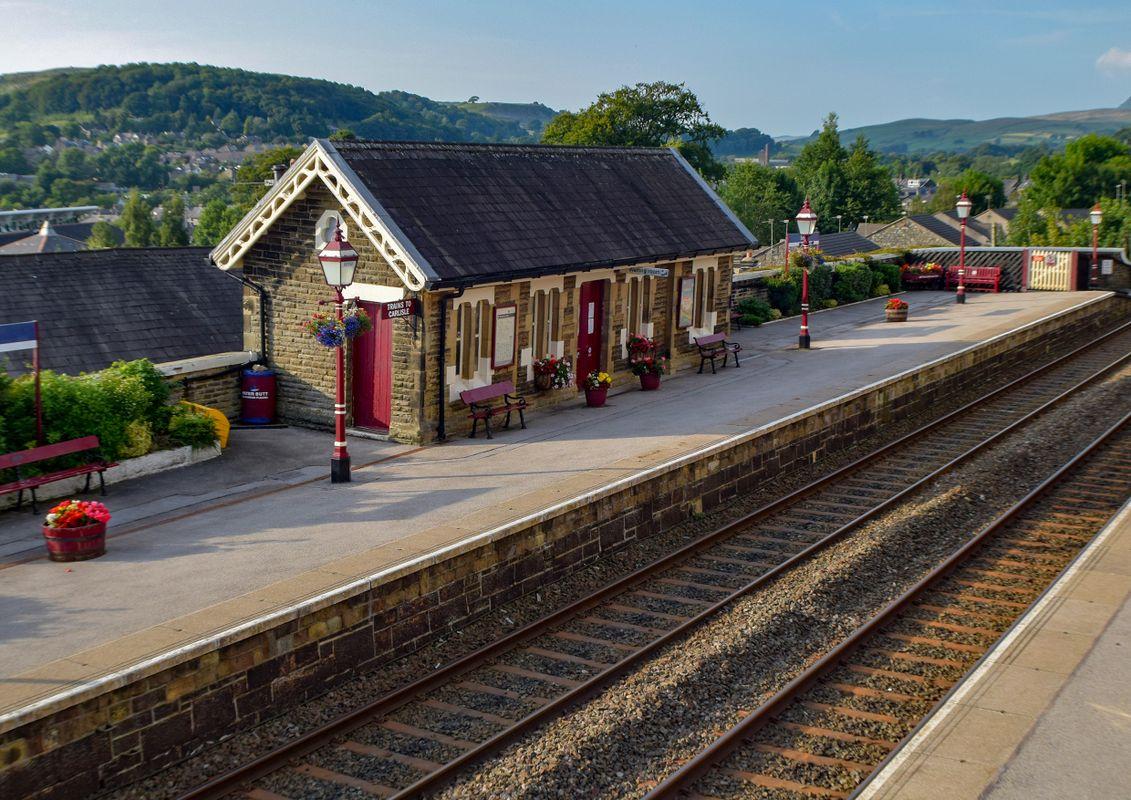 Settle Railway Station Northbound Platform.