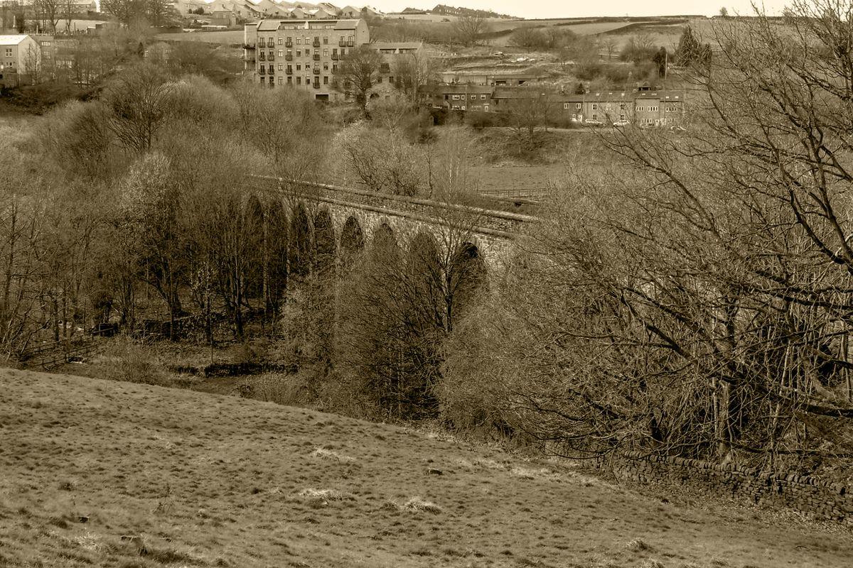 Stainland (Rawroyds) Viaduct, Halifax, West Yorkshire.