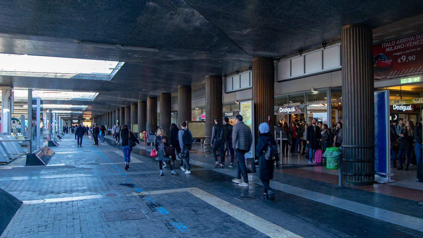 Platform at Venezia Santa Lucia Railway Station.