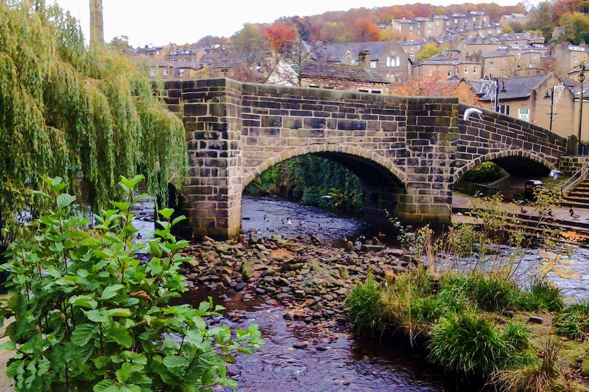 Hebden Old Bridge and Hebden Water
