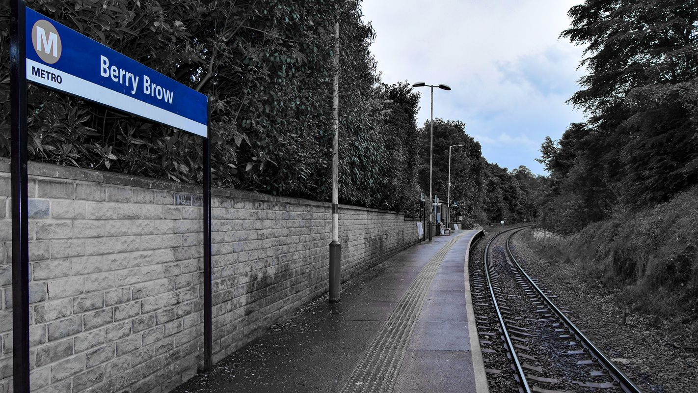 Berry Brow Railway Station Platform South.